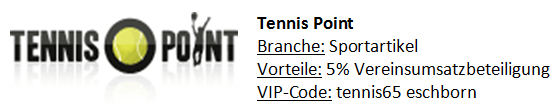 Tennis Point Kooperationspartner