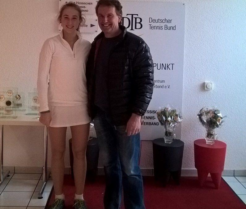 Gina Feistel ist Hessenmeisterin (Juniorinnen U14)